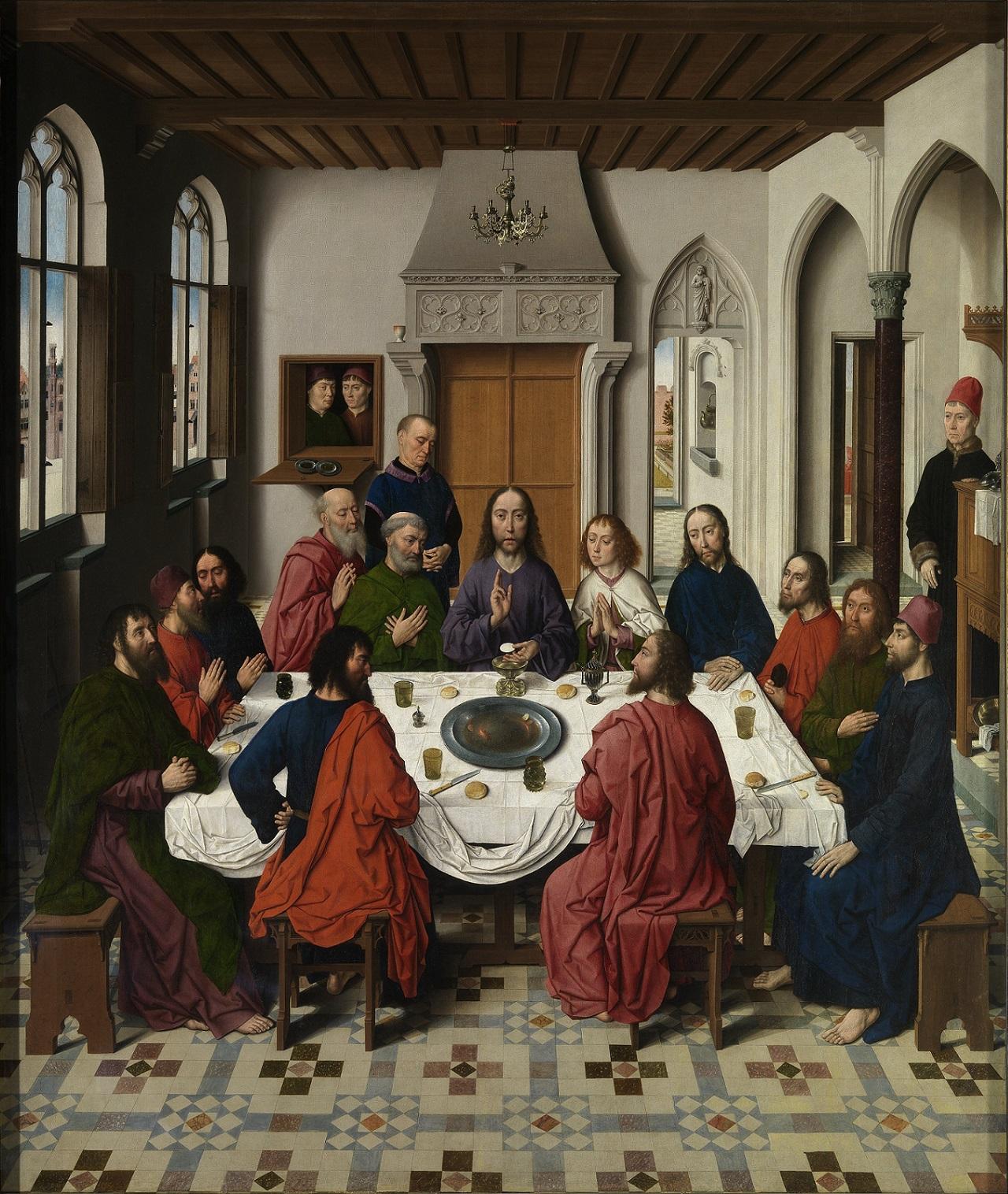 центральная часть триптиха «Тайная вечеря», художник Дирк Баутс, 1465