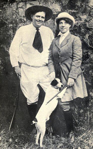 Джек Лондон и его жена Чармиан
