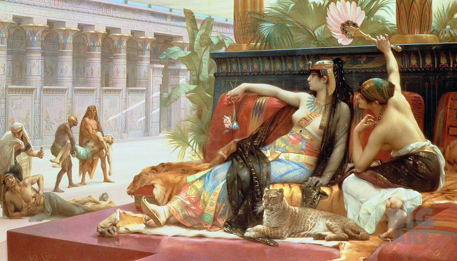 Клеопатра пробует яды на приговоренных к смерти. Худ. Александр Кабанель, 1887