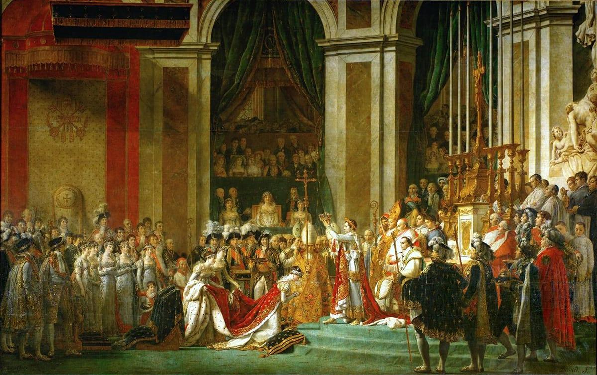 Жак-Луи Давид коронация Наполеона в Нотр-Дам