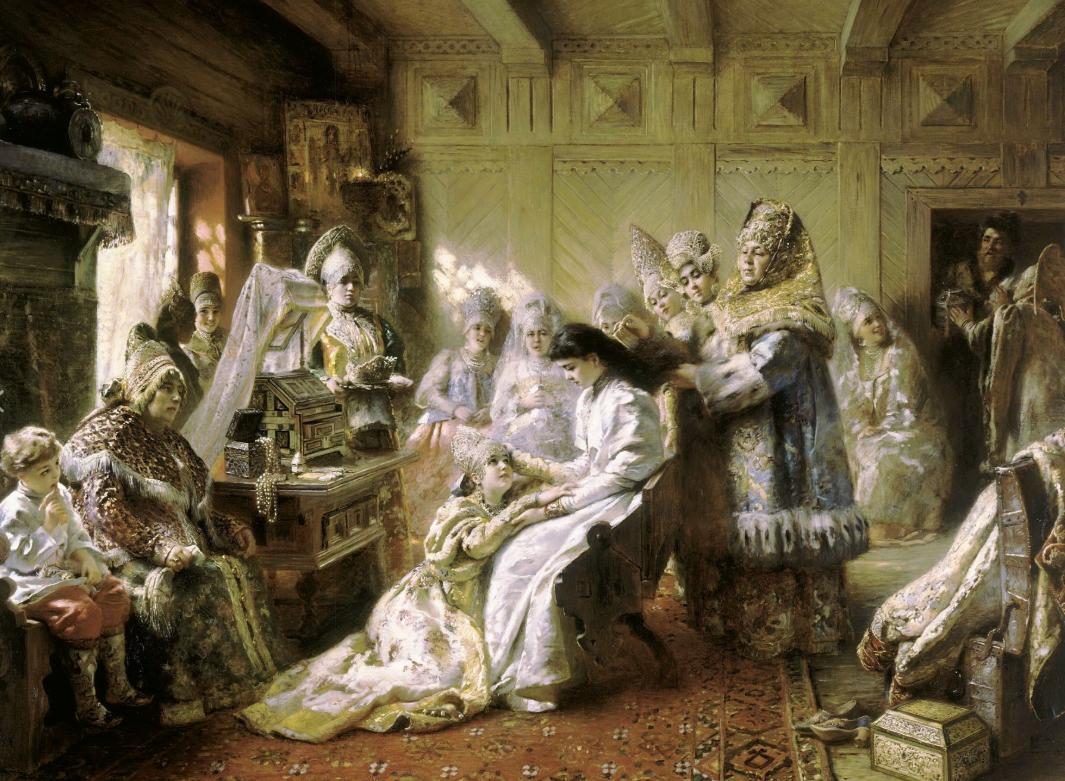 К.Маковский. Под венец, 1887