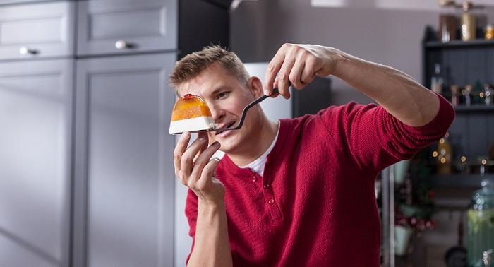 Торт-желе с хурмой